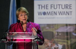 "Chile's former President and UN Women Executive Director Michelle Bachelet attends ""The Future Women Want"" conference during the Rio+20 United Nations sustainable development summit in Rio de Janeiro June 21, 2012. REUTERS/Paulo Whitaker"
